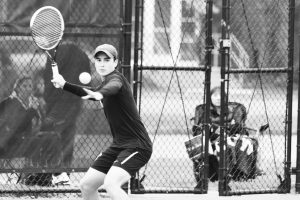 Senior Dan Rodefeld competes in the NCAC Championship in April. Rodefeld was defeaed in the semifinals of the A bracket during the DePauw Invitational this weekend. PHOTO COURTESY OF THE NCAC