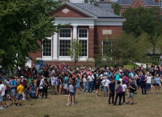 DePauw community gather for solar eclipse