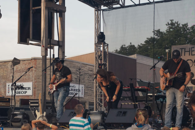 Bands entertain the crowd at Greencatle Music Festival