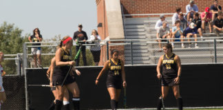 DePauw Women's field hockey play Denison on 9/09
