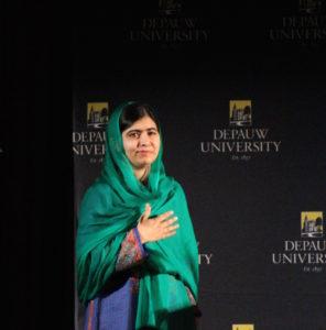 Malala Yousafzai greets crowd at DePauw University EMMA MAZUREK / THE DEPAUW