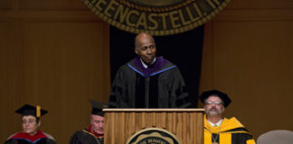 Vernon Jordan speaks at DePauw